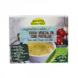 Caldo en Pastillas vegetal Bajo en Sal 66gr BIO Granovita