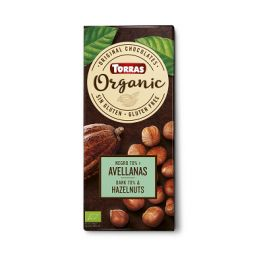Chocolate BIO 70 % Cacao Avellanas 100gr TORRAS