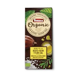 Chocolate BIO 70% Cacao Aceite oliva y sal 100gr TORRAS