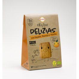 Txiki Delizias de Espelta naranja y vanilla BIO 45gr BIODARMA